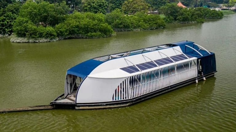 Four Solar-Powered River Barges Are Cleaning Up The World's Most Polluted Rivers