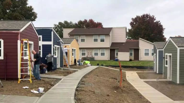 It's Move-In Day! Homeless Veterans Arrive At Their Village Of Tiny Homes